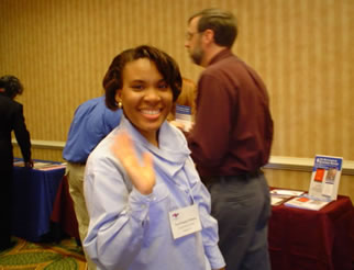 Tara Douglas-Williams cruises the successful vendor exhibits.